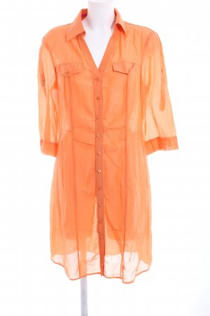 Orwell Long-Bluse hellorange Business-Look