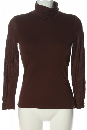 Orwell Turtleneck Shirt brown casual look