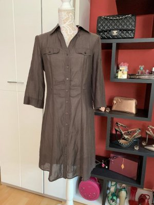 Orwell Vestido tipo blusón marrón-taupe Algodón