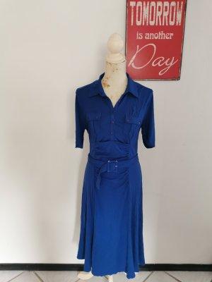 Orwell Jersey Dress neon blue viscose