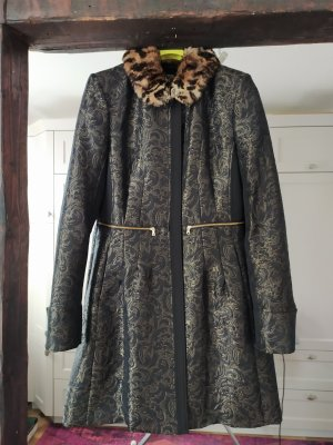 Orwell Long Jacket black-gold-colored mohair