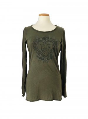 Orwell Camicia lunga cachi-verde oliva