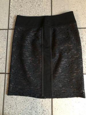 Orwell Lace Skirt black mixture fibre