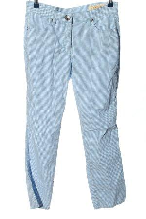 Orwell Stoffhose blau-weiß Allover-Druck Casual-Look