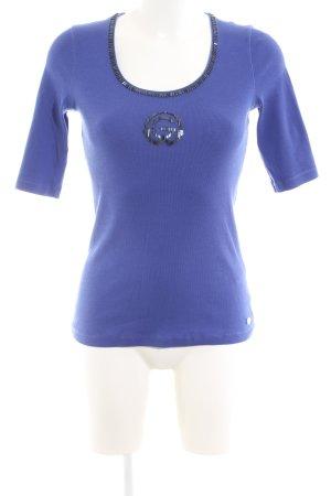 Orwell Strickshirt blau Casual-Look