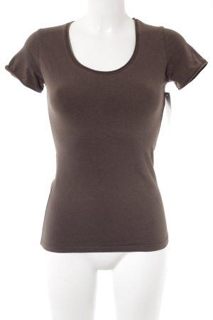 Orwell T-Shirt braun schlichter Stil