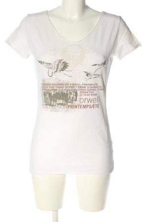 Orwell T-Shirt Motivdruck Casual-Look