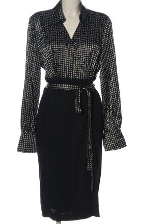 Orwell Kopertowa sukienka Wzór w kropki W stylu biznesowym