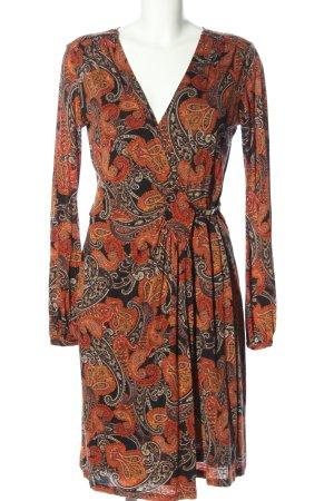 Orwell Robe portefeuille motif abstrait style décontracté