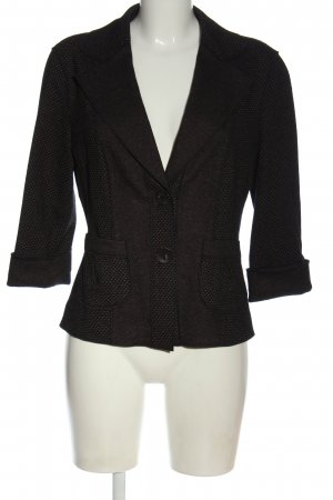 Orwell Blazer in lana nero-marrone motivo a righe stile casual
