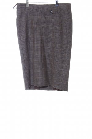 Orwell Wool Skirt light grey-black check pattern business style