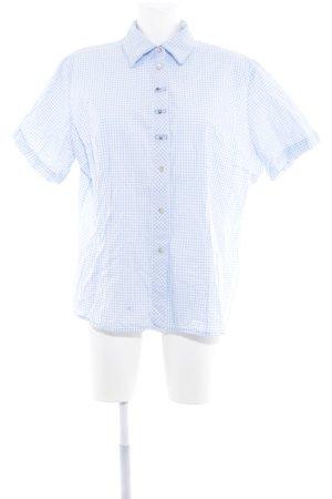 OS Trachten Trachtenhemd himmelblau-weiß Karomuster klassischer Stil