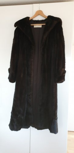 Oscar de la renta Pelt Coat dark brown