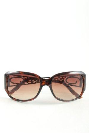 Oscar de la renta ovale Sonnenbrille braun-schwarz Animalmuster Business-Look