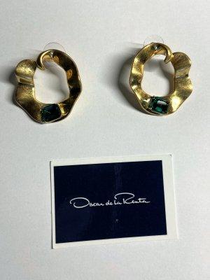 Oscar de la renta Clou d'oreille doré métal