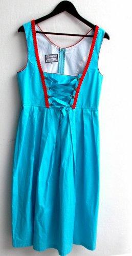 Oscartrachten gebrauchtes Damen Trachten Dirndl ärmellos Gr. 42 hellblau TS653