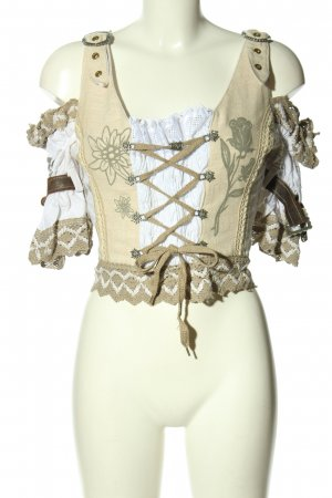 Oscartrachten Traditional Camisole natural white-brown themed print elegant