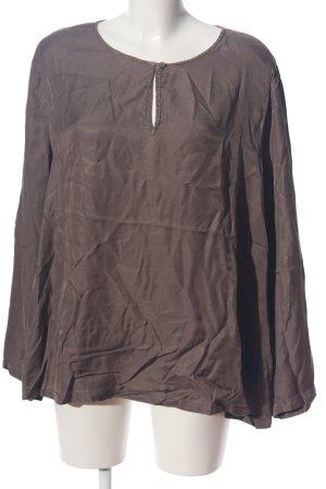 Oska Blusa brillante grigio chiaro stile casual