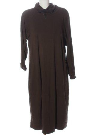 Oska Midi Dress brown flecked casual look