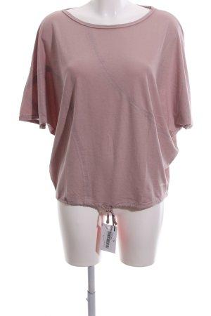 Oska Oversized Shirt pink Schriftzug gedruckt Casual-Look