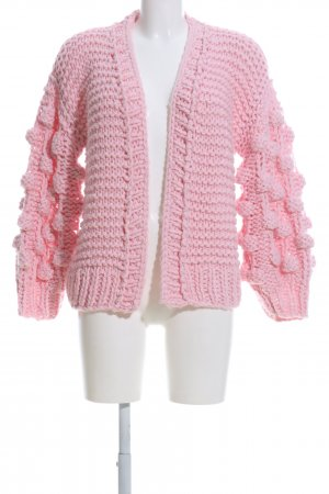 Osley Grobstrickjacke pink Zopfmuster Casual-Look