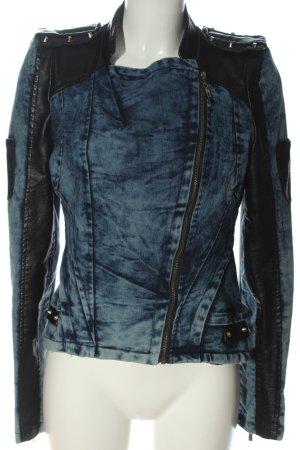 Osley Denim Jacket blue-black flecked casual look