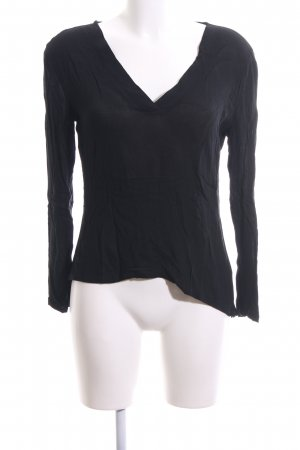 Osley Langarm-Bluse schwarz Casual-Look