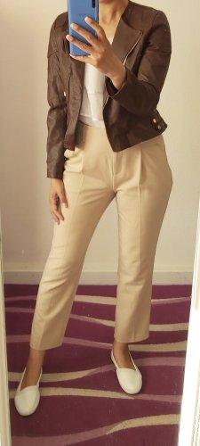 Osley Chaqueta de cuero de imitación marrón