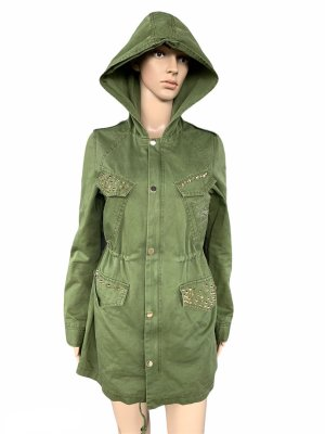 Osley Trench Coat forest green-khaki