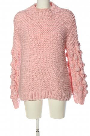 Osley Knitted Sweater pink striped pattern casual look