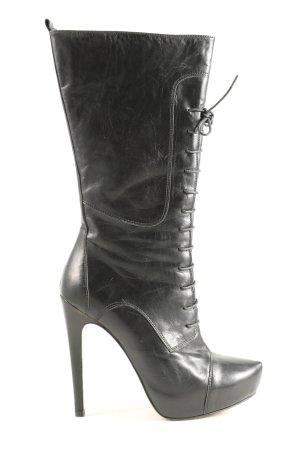 Osvaldo Rossi Absatz Stiefel schwarz extravaganter Stil