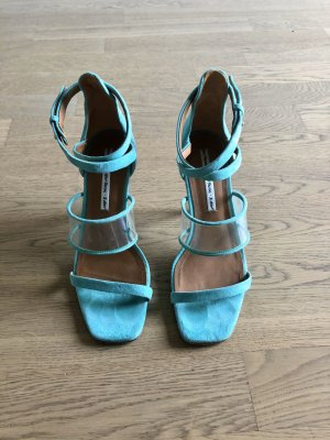 & other stories Strapped High-Heeled Sandals turquoise-mint