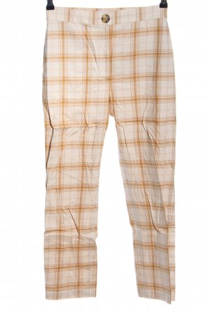 & other stories 7/8-Hose hellorange-creme Karomuster Casual-Look