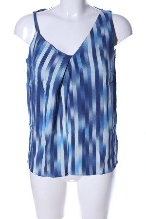 & other stories ärmellose Bluse blau-weiß Streifenmuster Casual-Look