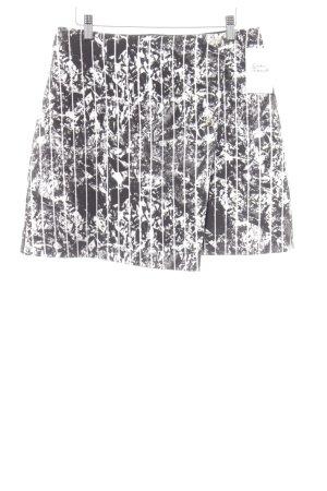 & other stories Asymmetrie-Rock schwarz-weiß abstraktes Muster Casual-Look