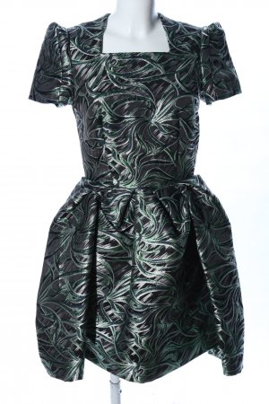 & other stories Balloon Dress black-green abstract pattern elegant