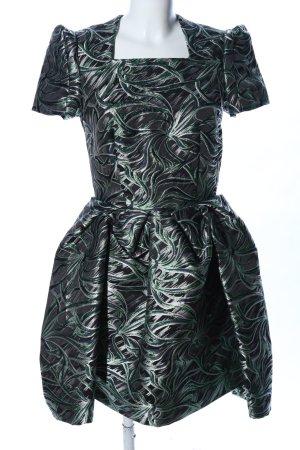 & other stories Abito a palloncino nero-verde motivo astratto elegante