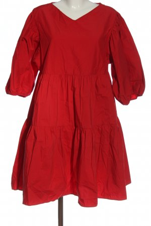 & other stories vestido de globo rojo look casual