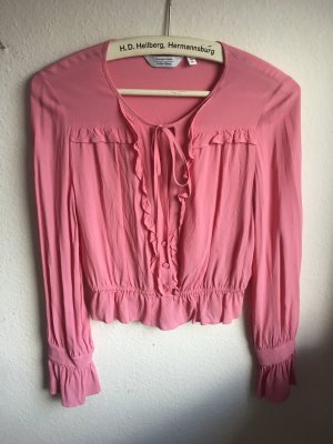& other stories Ruche blouse roze