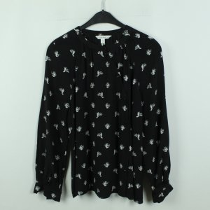 & other stories Long Sleeve Blouse black-white viscose