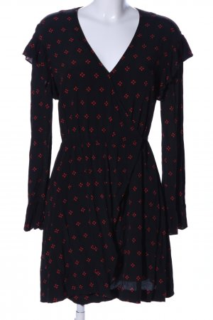 & other stories Blusenkleid schwarz-rot grafisches Muster Casual-Look