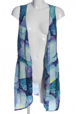 & other stories Cardigan blau-grün abstraktes Muster Casual-Look
