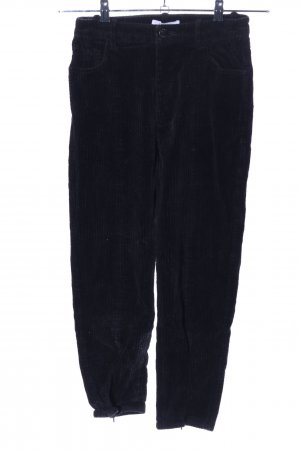 & other stories Corduroy Trousers black striped pattern casual look