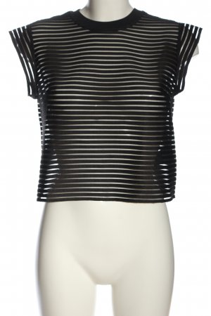 & other stories Cropped shirt zwart gestreept patroon casual uitstraling