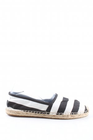 & other stories Espadrillas nero-bianco motivo a righe stile casual