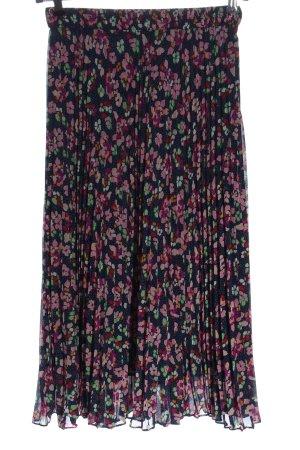 & other stories Faltenrock blau-pink Blumenmuster Casual-Look