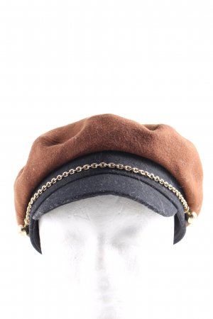 & other stories Gorro plano marrón-negro look casual