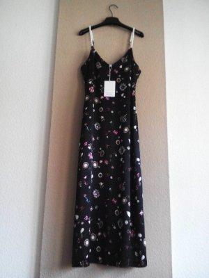 & other stories gemustertes Kleid mit Perlen-Detail, Los Angeles Atelier, Größe 38, neu