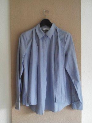 & other stories Koszulowa bluzka biały-błękitny Bawełna