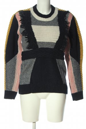 & other stories Grobstrickpullover abstraktes Muster Casual-Look
